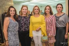 Márcia Andrea, Andréa Delfino, Sarah Philomeno, Ana Paula Daud e Cristiane Araújo