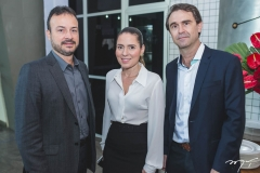 Danilo Serpa, Águeda Muniz e Alexandre Landim