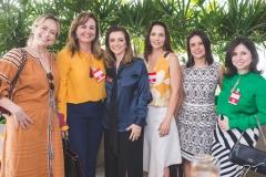 Andréa Fialho, Fátima Santana, Emília Buarque, Patrícia Studart, Cocália Dutra e Mariana Tomaz