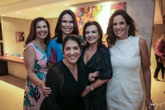 Genna Campos, Andreia Rios, Elisa Oliveira, Roberta Ary e Ana Virginia Martins