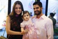 Priscila, Luísa e Bruno Becco
