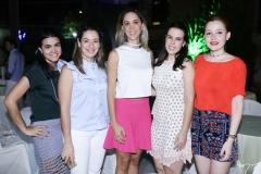 Priscila e Silvinha Leal, Lívia Vieira, Eveline Bernardo e Larissa Fujita