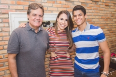 Paulo Miranda, Rebeca Rios e Maurício Oliveira