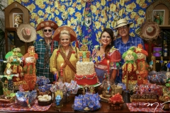 Arthur, Excelsa, Ana Luiza e Urbano Costa Lima
