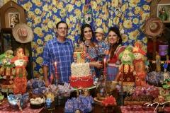 Urbano Costa Lima, Carla e Jarson Fonteles e Ana Luiza Costa Lima