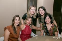 Yane Nagashima, Lucila Mendonça, Nanette Pimentel, Roberta Ribeiro e Lena Dias