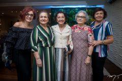 Auristela Gualberto, Bárbara Freire, Hortencia Gualberto, Dina Rúbio e Aurora Régia