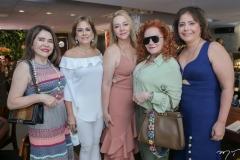 Dalva Arrais, Sarah Philomeno, Sandra Fujita, Lisieux Brasileiro e Cláudia Gradvohl