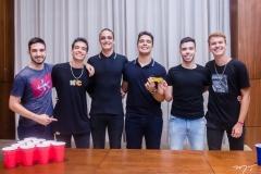 David Lucena, Lucas Sombra, João Padilha, Davi Teixeira, Charles Fernandes e André Machado