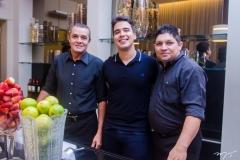 Erone Ribeiro, Davi Teixeira e Rômulo Barbosa