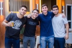 Rau Capelo, Davi Barbosa, Lucas Coimbra e Wilame Morais