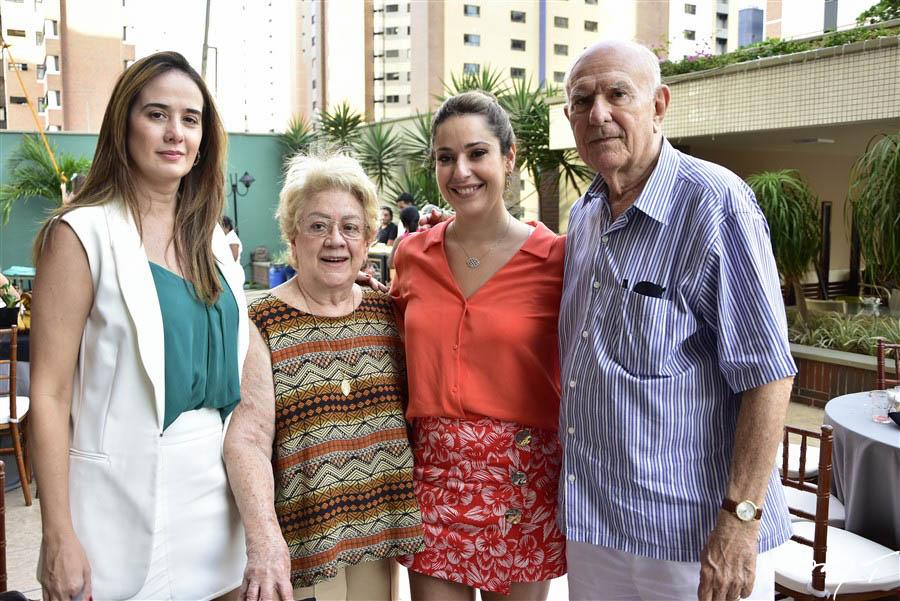 Gisele, Vera Siqueira, Silva Leal e Silvio de Castro