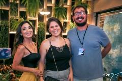 Renata Marinho, Camila Santana e Ney Filho