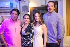 Dito Machado, Adriana Queiroz, Marilia Queiroz e Thiago Holanda