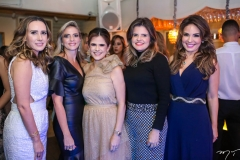 Roberta Nogueira, Michelle Aragão, Niedja Bezerra, Cristine Feitosa e Eveline Fujita