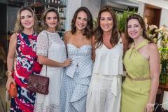 Suyane Dias Branco, Michelle Aragão, Ana Virginia Martins, Ana Vládia Barreira e Vivian Albuquerque