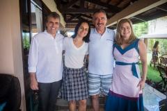 Fábio Gentile, Fernanda Barreira, Artur Bruno e Natércia Bruno