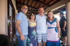 Gláucio Nóbrega, Silvânia Nobrega, Artur Bruno e Natércia Bruno