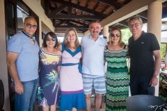 Gláucio Nóbrega, Silvânia Nobrega, Natércia Bruno, Artur Bruno, Sandra Claudino e Eulálio Costa