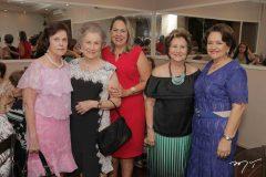 Liliane Nogueira, Sílvia Martins, Ângela Carvalho, Lúcia Medeiros e Bárbara Freire
