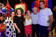 Marcia Tavora, Norma Bezerra, Amanda Vidal, Adalto Bezerra e Leonardo Vidal