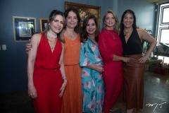 Carla Nogueira, Claudia Gradvohl, Martinha Assunção, Michelle Aragão e  Elisa Oliveira