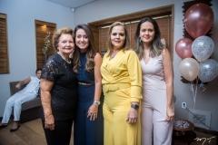 Rosa, Virginia e Claudiana Loureiro, Teca e Ticiana Leitão