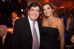 Dr. Cabeto e Márcia Travessoni