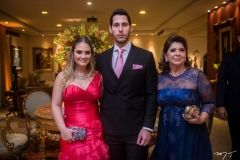 Letícia Teixeira, Gabriel Dias Branco e Lenice Figueiredo