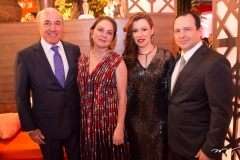Silvio e Paula Frota, Aline e Igor Barroso