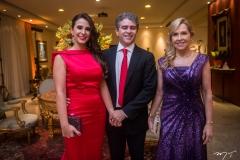 Vivian, Ronaldo e Leila Barbosa