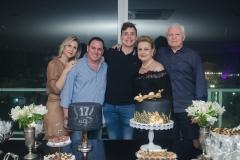 Camille, Marcelo, Luiz e Letícia Cidrão e Eugênio Pequeno