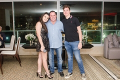 Luiz, Marcelo e Letícia Cidrão