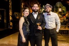 Lívia Herculano, Luiz Victor Torres e Daniel Herculano
