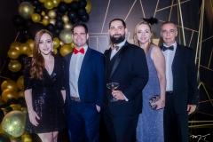 Mariah Fujita, Valmir Torres, Luiz Victor Torres, Sandra Fujita e Rogério Torres