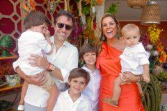 Chico Marinho, Mariana Mota e filhos