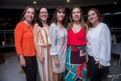 Helena Guimarães, Rosângela Pinheiro, Melânia Torres, Tomázia Carapeba e Judite Andrade