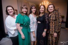 Teca Frota, Carmen Cinira, Melânia Torres, Maria Ester e Janice Machado