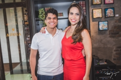 Maurício Moreira de Sousa e Rebeca Rios