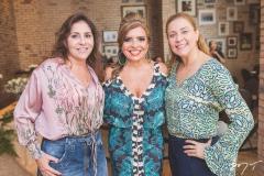 Cristiane Faria, Silvinha Carneiro e Andréa Delfino