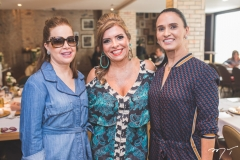 Isabela Fonseca, Silvinha Carneiro e Neusa Rocha