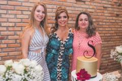Yasmim Santos, Silvinha Carneiro e Sílvia Mendes
