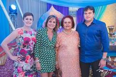 Jéssica, Milena, Gloria e Adriano Barbosa