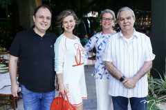 Alexandre e Talita Fermanian, Bia e Max Perlingeiro