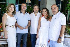 Carla e Carlos Pereira, Edson Queiroz Neto, Márcia e Fernando Travessoni