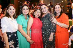 Cris Aragão, Rosilândia Lima, Socorro Rabelo, Karine Loiola e  Jaqueline Turbai