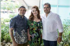 Igor e Aline Barroso e Edson Queiroz Neto