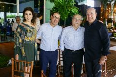 Luciana, Flávio e Peter Conh e Silvio Frota