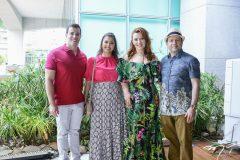 Pedro e Líigia Félix, Aline e Igor Barroso