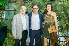 Peter, Flávio e Luciana Cohn
